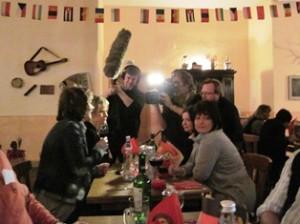 """Fernseh-Team vom MDR bei der Dinnershow """"Seid Bereit"""""""
